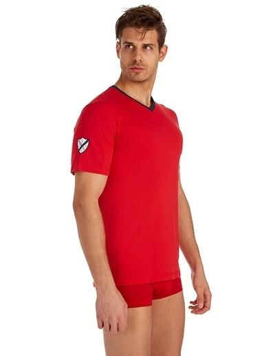 U.S. Polo Assn. V-Yaka T-Shirt Kırmızı